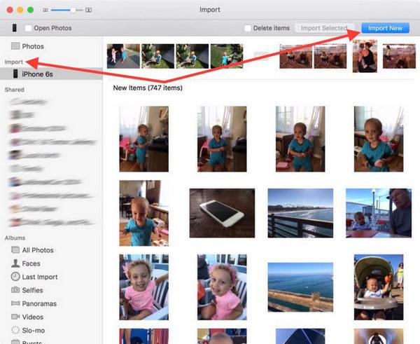 импорт фотографий с iphone на iphone