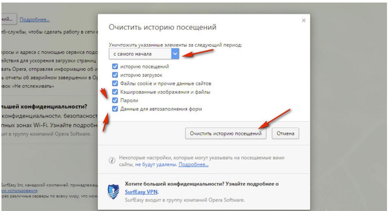 Как сделать чтобы браузер не сохранял историю 351
