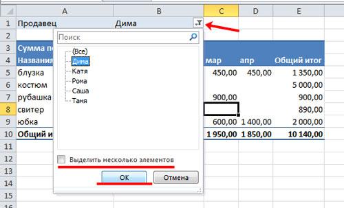 Рисунок 12. Как сделать сводную таблицу в Excel 2003, 2007, 2010 с формулами?